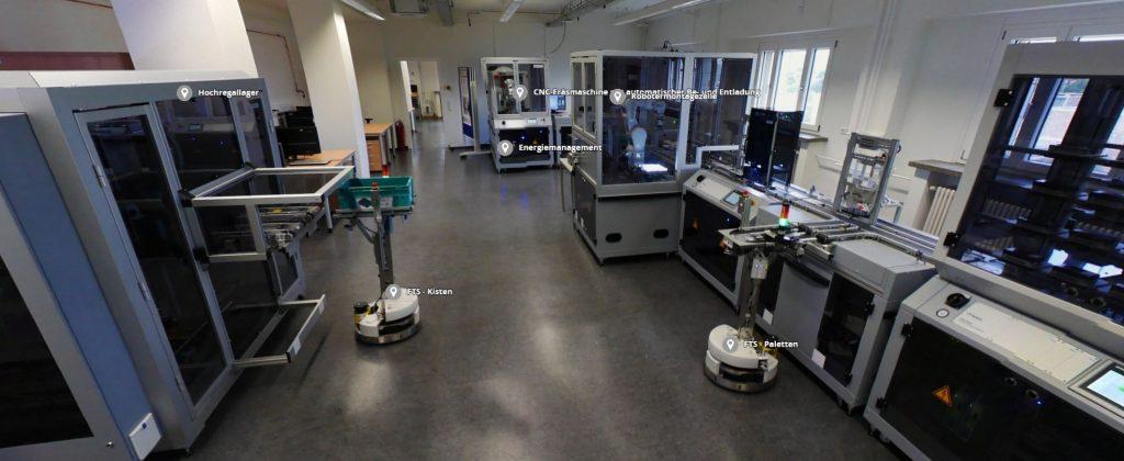 Virtueller Rundgang durchs IoT Testbed Lernfabrik Dresden