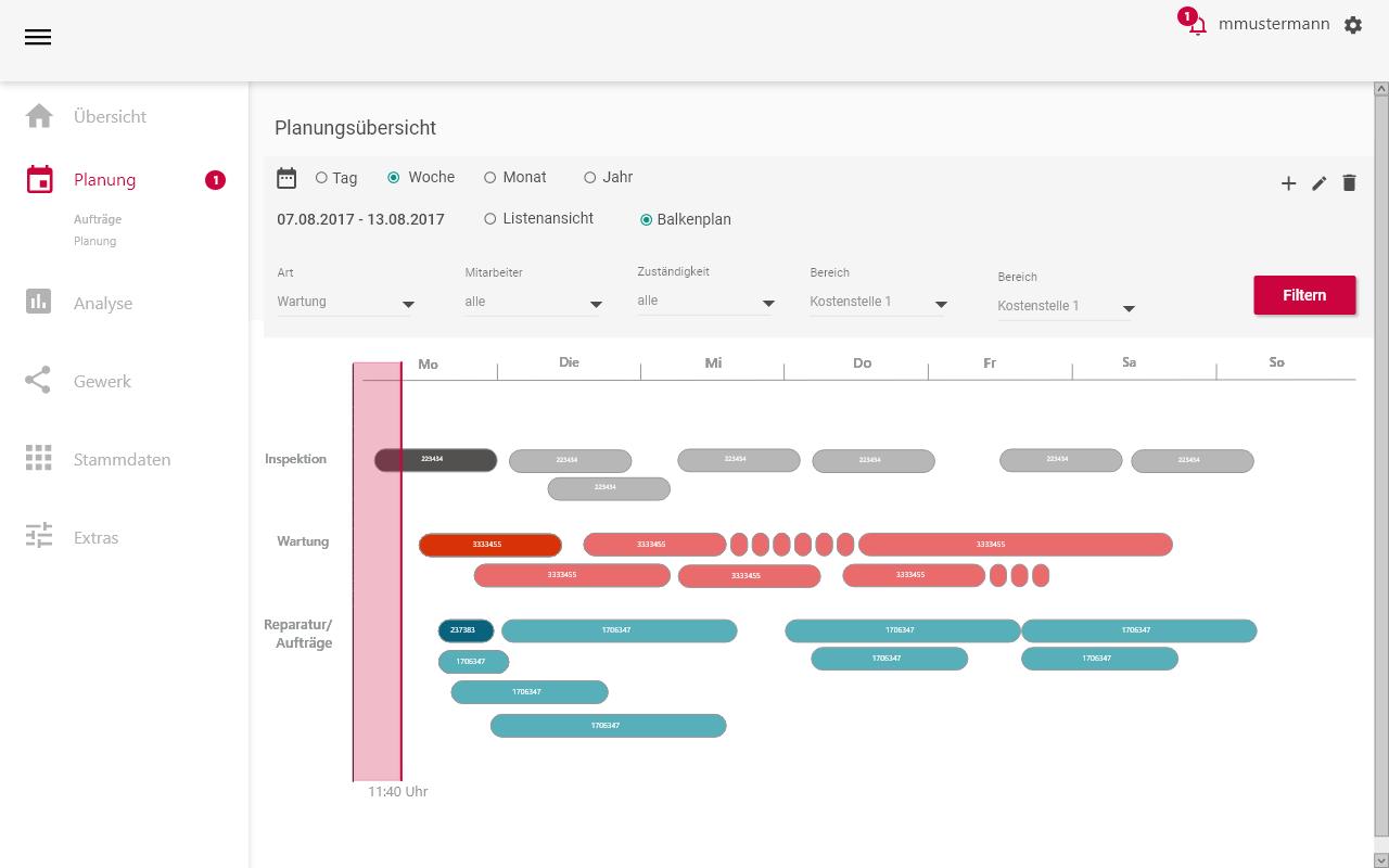 instandhaltungssoftware-Planung Balkenplan_Digitalisierung-der-Instandhaltung