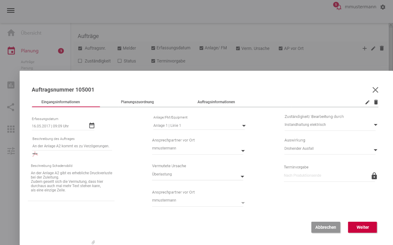 instandhaltungssoftware-Auftrag ansehen_Digitalisierung-der-Instandhaltung