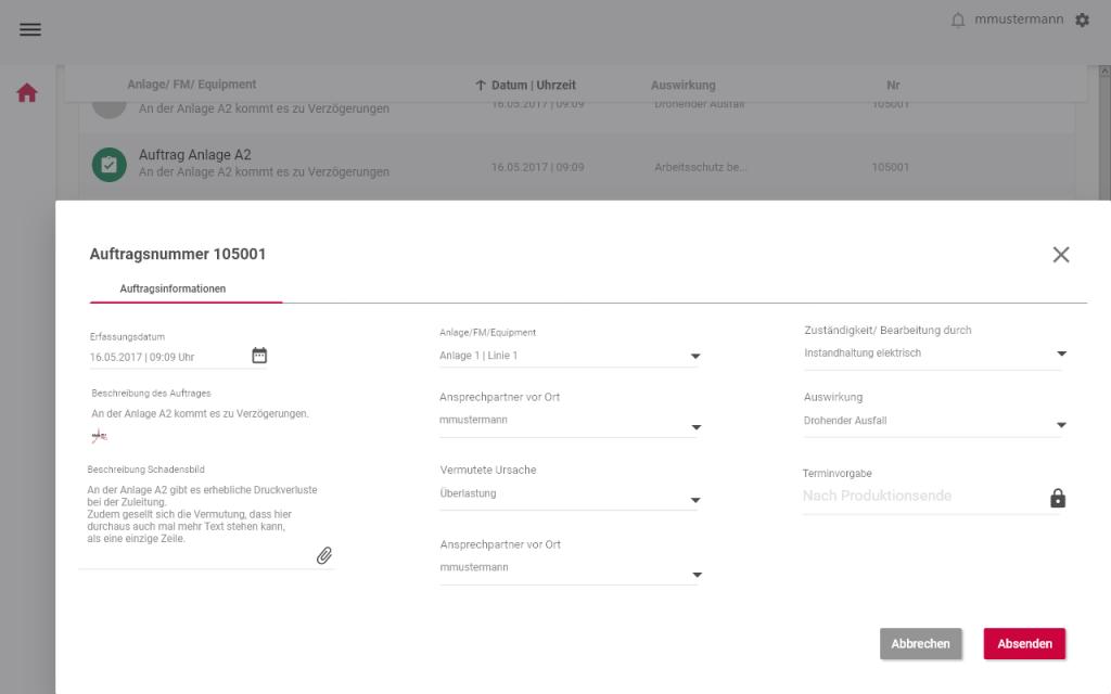 instandhaltungssoftware-Auftrag anlegen_Digitalisierung-der-Instandhaltung