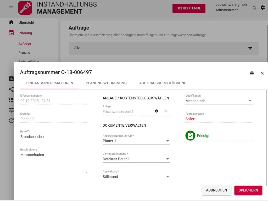 Mobile Instandhaltung_Auftrag Eingangsinformation(iPad)