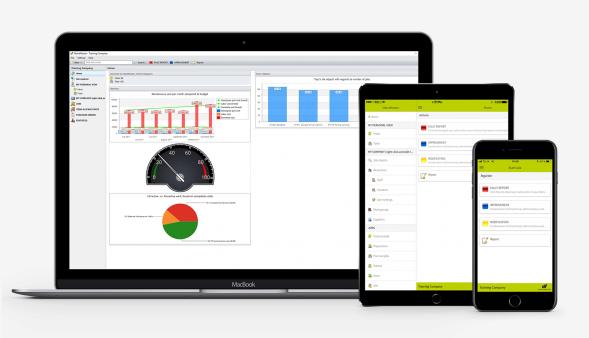 Instandhaltungssoftware von MaintMaster: Kompatibel mit Desktop, Tablet, Smartphone