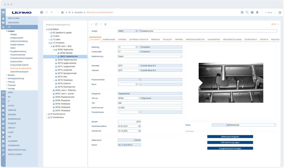 Maintenance-Management-Software von Ultimo: Darstellung auf dem Desktop